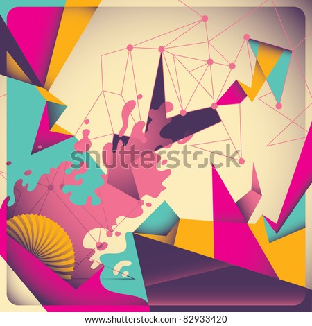 Colorful retro abstraction. Vector illustration. - stock vector