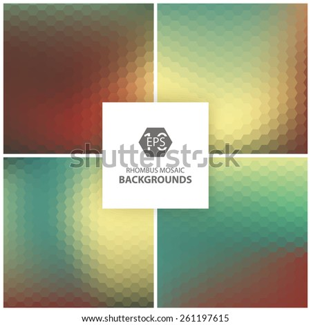 Colorful rhombus background mosaic. - stock vector