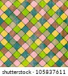 Colorful Rhombus. Seamless pattern,background vector illustration - stock vector