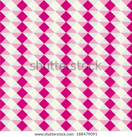 Colorful Rhombus. Seamless pattern,vector background illustration - stock vector