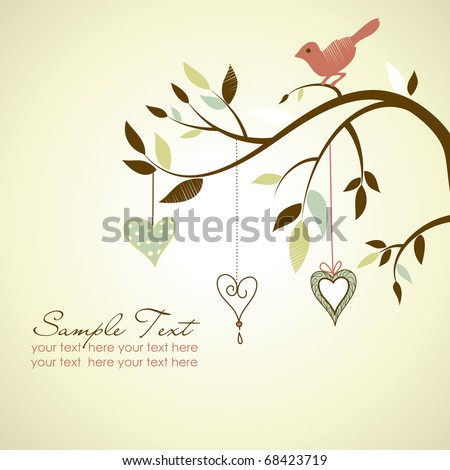 Colorful romantic background. - stock vector