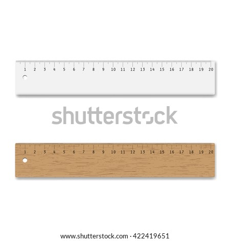 Colorful rulers, vector illustration