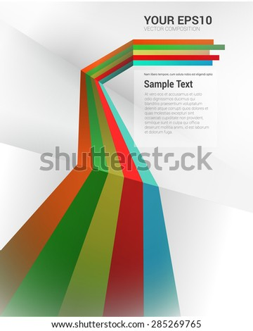 Colorful & Scalable vector Composition - stock vector