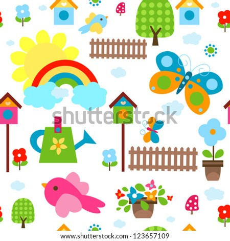 colorful seamless background for kids