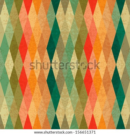 colorful seamless geometric pattern - stock vector