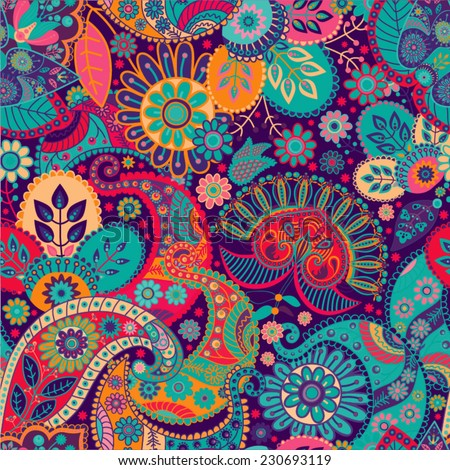 Colorful seamless pattern - stock vector