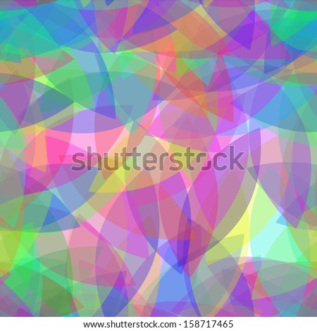 Colorful seamless pattern. Leafs abstract vector background. - stock vector