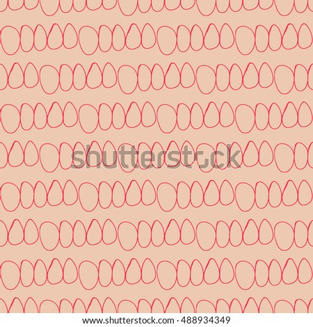 Colorful seamless pattern of hand made doodle vector abstract circle symbol