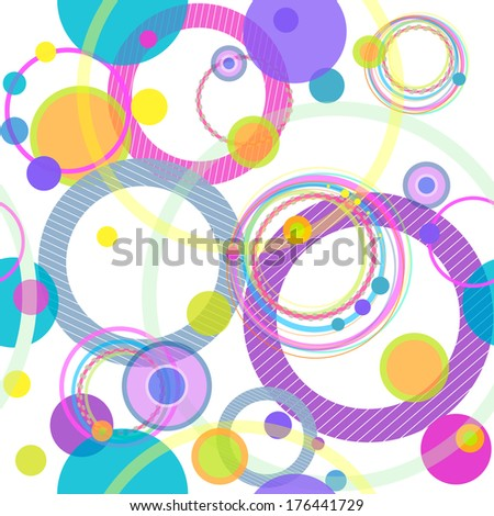 colorful seamless pattern, vector - stock vector