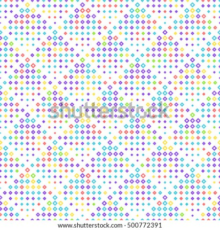 Colorful seamless pattern. Vector background with rhombus.