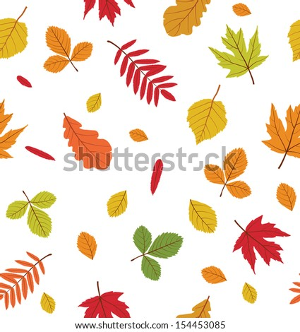 Colorful seamless pattern with autumn leaves