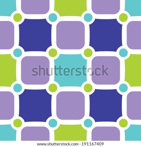 Colorful seamless pattern with fresh tiles - stock vector