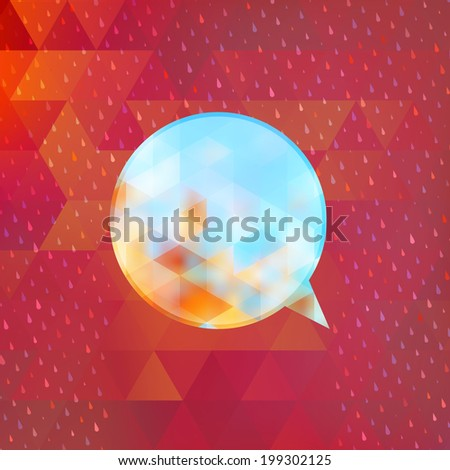 Colorful season triangle social media bubble. And also includes EPS 10 vector - stock vector