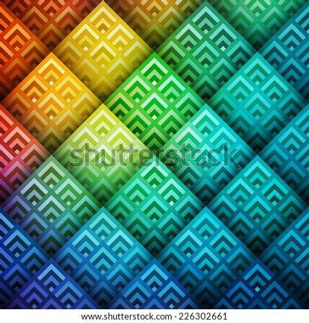 Colorful shiny geometric background, vector eps10 illustration - stock vector