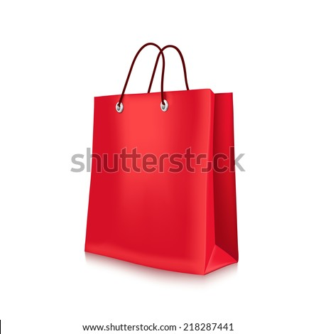 Colorful Shopping Bag in White Background