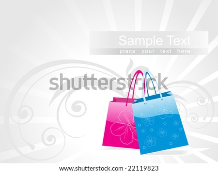 colorful shopping bags, vector design