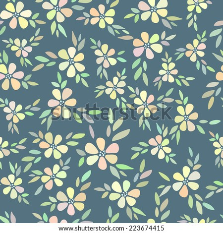 Colorful simple flower pattern