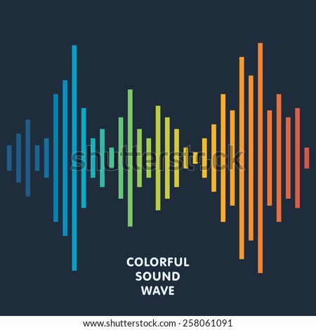 Colorful sound wave background. Equalizer, swing and music. Vector illustration - stock vector