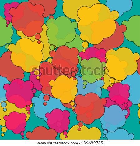 colorful speech bubble seamless - stock vector