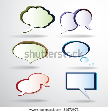 Colorful Speech Bubbles - stock vector