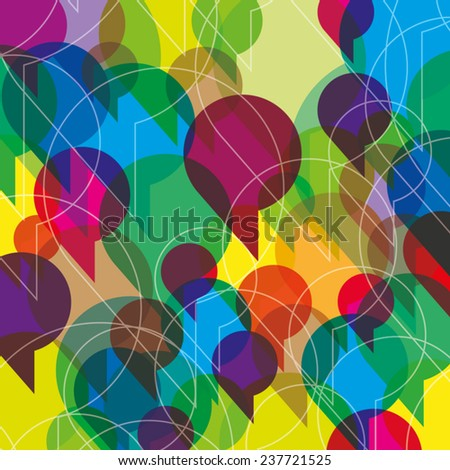 Colorful speech bubbles background - Vector Illustration  - stock vector