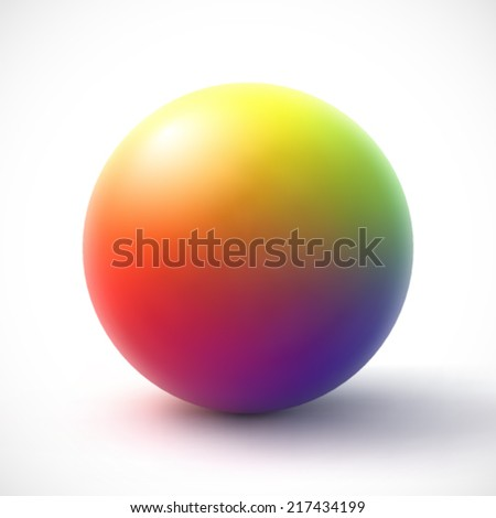 Colorful sphere on white background. - stock vector