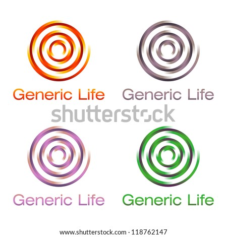 colorful spiral signs on white background