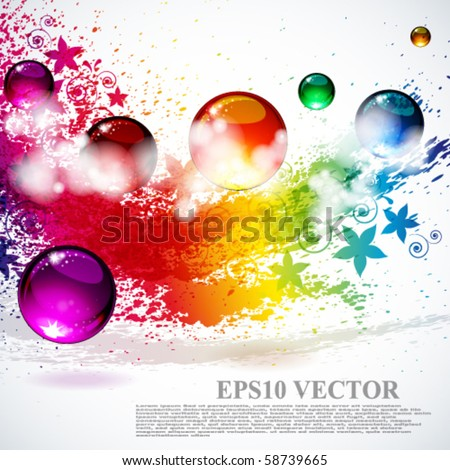 Colorful splash background - stock vector