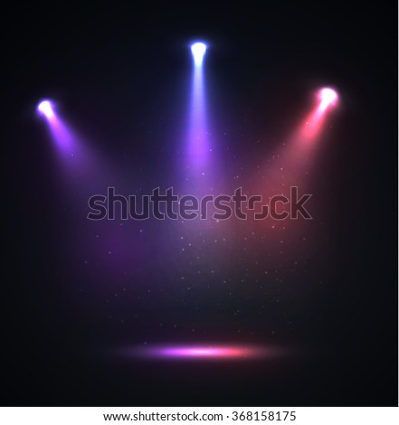 Colorful spotlight vector background. Eps10. - stock vector