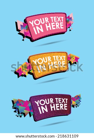 colorful square flying element  - stock vector