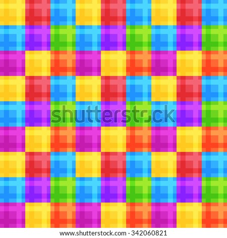 Colorful square seamless pattern. Vector wallpaper design