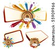 colorful star,casino design elements - stock vector