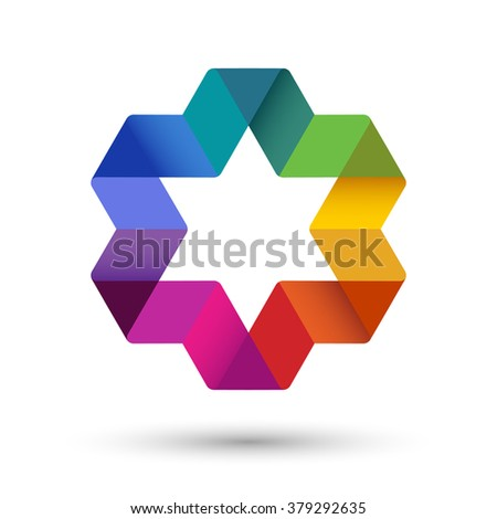 Colorful star, eps10 vector - stock vector