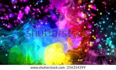 Colorful stardust brush strokes background. Vector version - stock vector