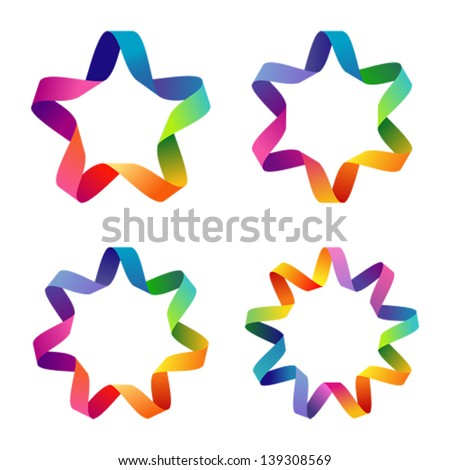 Colorful stars - stock vector