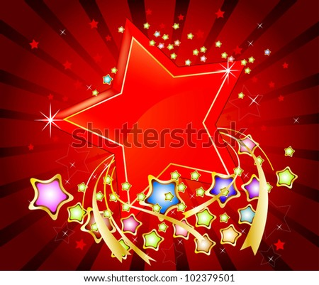 Colorful stars abstract background