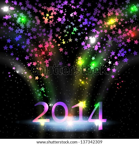 Colorful stars for New year - stock vector