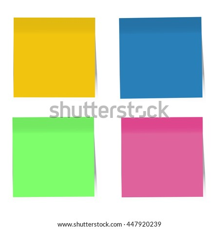 Colorful Sticky Notes. Vector