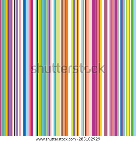 Colorful striped abstract background. Variable width stripes. Suitable for gift wrap or wallpaper background. - stock vector