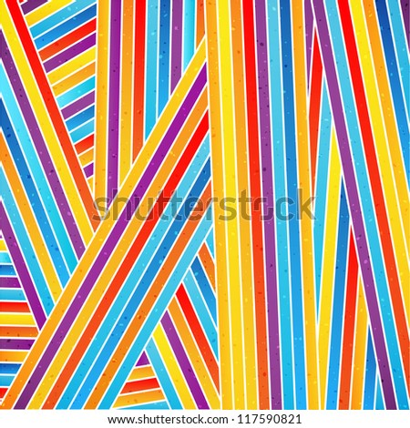 Colorful striped background. Vector illustration - stock vector