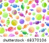 colorful striped candy seamless pattern on white background - stock vector