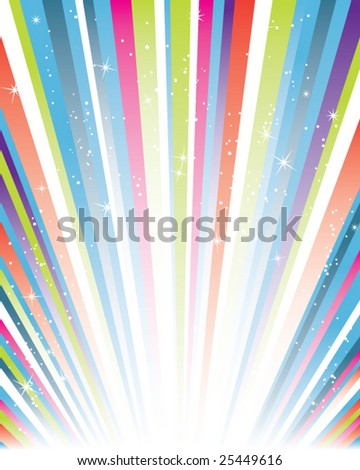 colorful striped straburst - stock vector