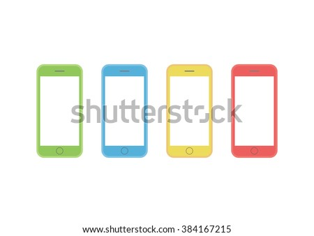 colorful styles of cell phone screen HD template is convenience to present the storyline to client. A4 design of paper ratio is easy to fit for print out. - stock vector