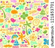 colorful summer graphics - stock photo