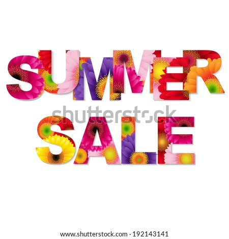 Colorful Summer Sale Poste, Vector Illustration - stock vector