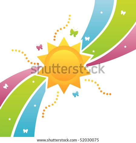 colorful sun background