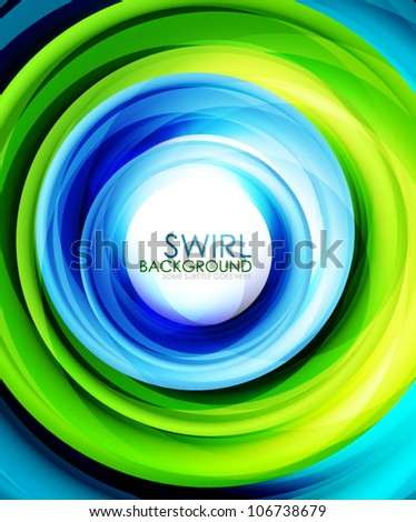 Colorful swirl abstract background - stock vector