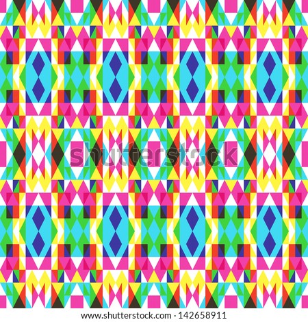 Colorful Symmetrical Pattern - stock vector