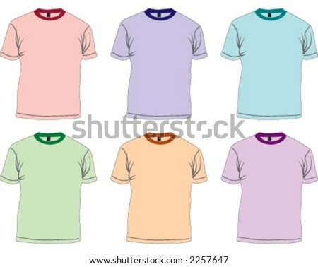 Colorful t-shirts - stock vector
