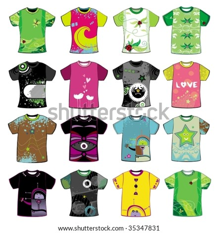 Colorful t-shirts.To see similar,  please VISIT MY PORTFOLIO - stock vector
